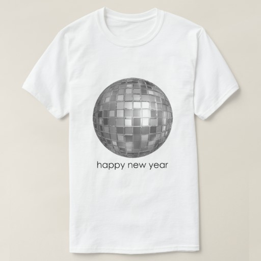 Happy New Year Disco Ball Basic T-Shirt