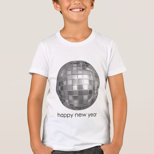 Happy New Year Disco Ball Kids' Bella+Canvas Crew T-Shirt