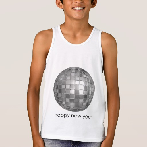 Happy New Year Disco Ball Kids' Bella+Canvas Jersey Tank Top