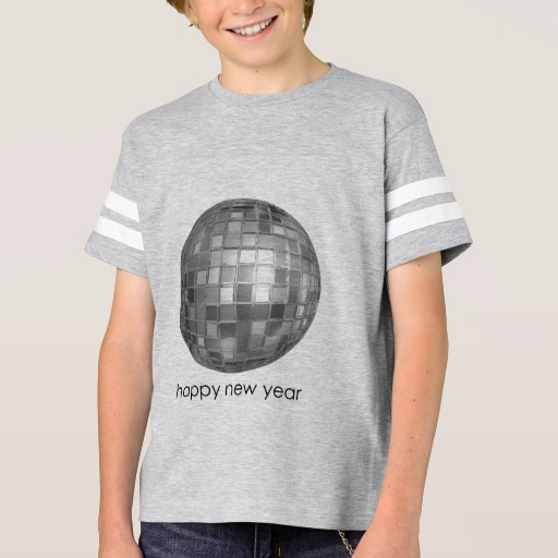 Happy New Year Disco Ball Kids' Football Shirt