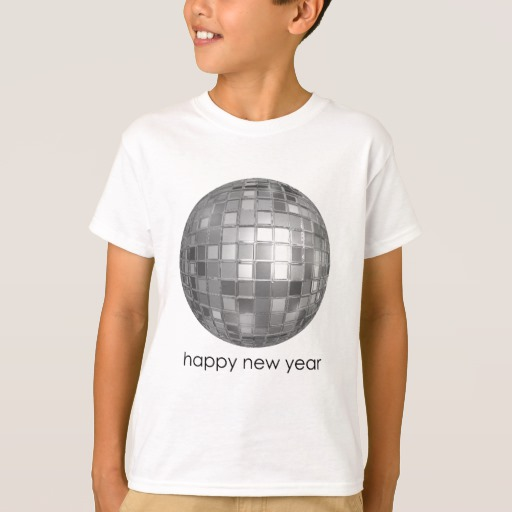 Happy New Year Disco Ball Kids' Hanes TAGLESS® T-Shirt