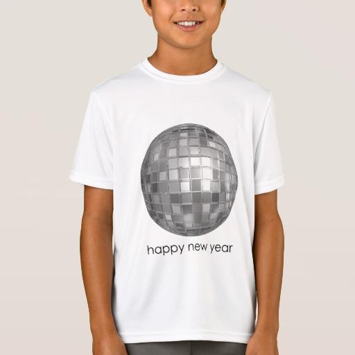 Happy New Year Disco Ball Kids' Sport-Tek Competitor T-Shirt