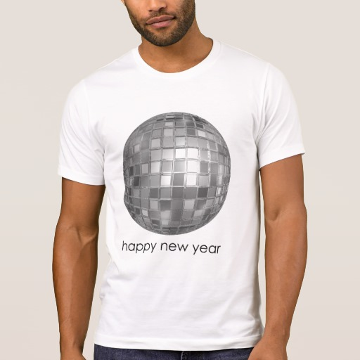 Happy New Year Disco Ball Men's Alternative Apparel Crew Neck T-Shirt