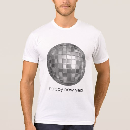 Happy New Year Disco Ball Men's American Apparel Poly-Cotton Blend T-Shirt