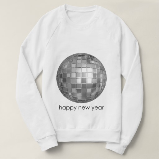 Happy New Year Disco Ball Men's American Apparel Raglan Sweatshirt