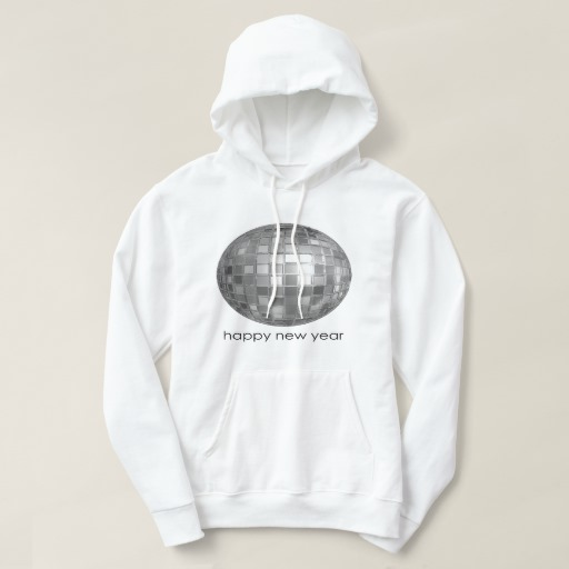 Happy New Year Disco Ball Men's Basic Hooded Sweatshirt
