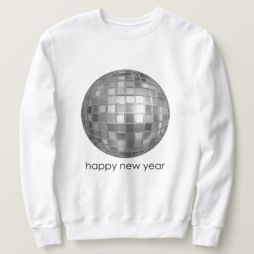 Happy New Year Disco Ball Men's Basic Sweatshirt