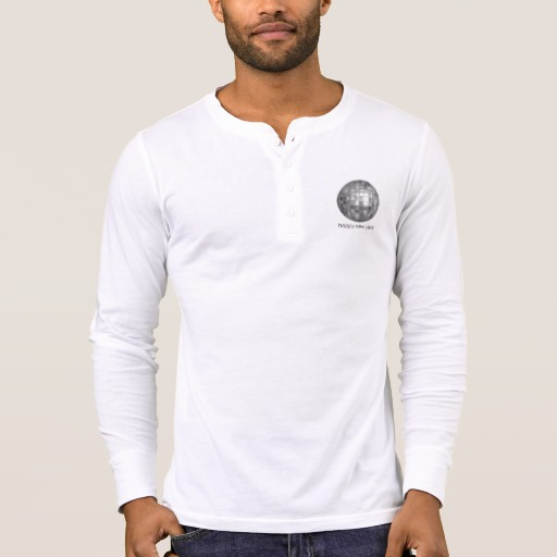Happy New Year Disco Ball Men's Bella+Canvas Henley Long Sleeve Shirt