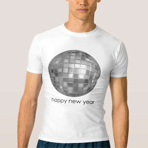 Happy New Year Disco Ball Men's Performance Compression T-Shirt