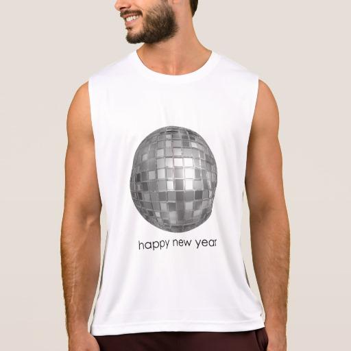 Happy New Year Disco Ball Men's Performance Tank Top