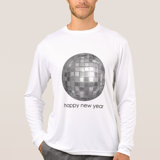 Happy New Year Disco Ball Men's Sport-Tek Competitor Long Sleeve T-Shirt