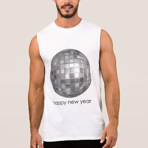 Happy New Year Disco Ball Men's Ultra Cotton Sleeveless T-Shirt