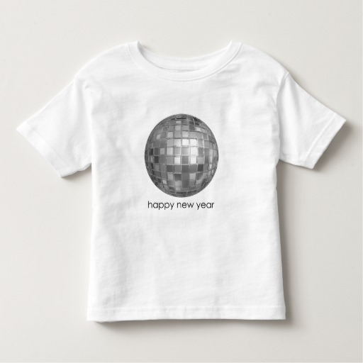 Happy New Year Disco Ball Toddler Fine Jersey T-Shirt