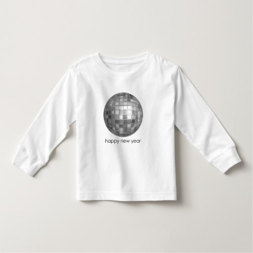 Happy New Year Disco Ball Toddler Long Sleeve T-Shirt