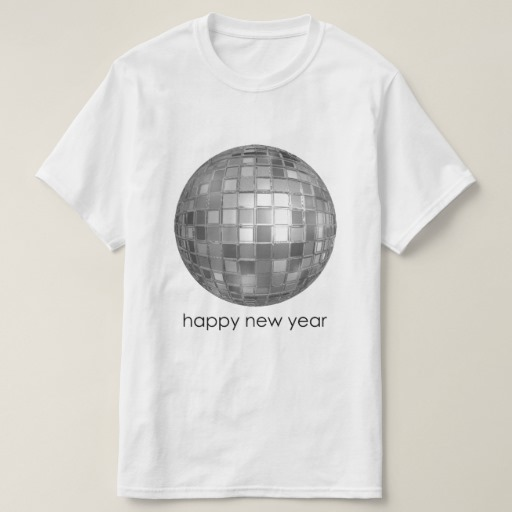 Happy New Year Disco Ball Value T-Shirt