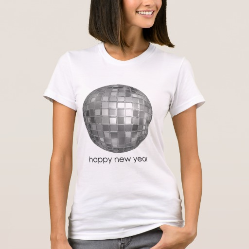 Happy New Year Disco Ball Women's American Apparel Fine Jersey T-Shirt