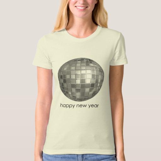 Happy New Year Disco Ball Women's American Apparel Organic T-Shirt