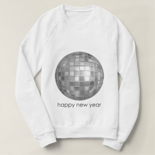 Happy New Year Disco Ball Women's American Apparel Raglan Sweatshirt