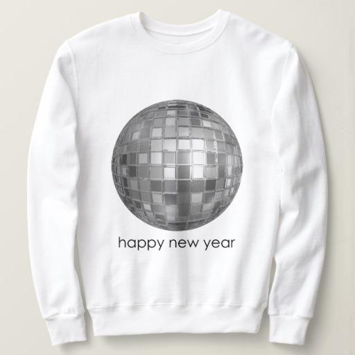 Happy New Year Disco Ball Women's Basic Sweatshirt