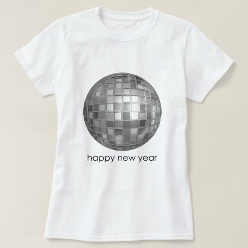 Happy New Year Disco Ball Women's Basic T-Shirt