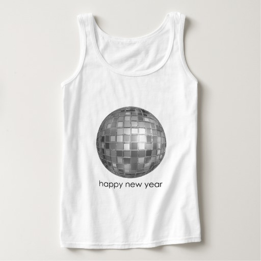 Happy New Year Disco Ball Women's Basic Tank Top