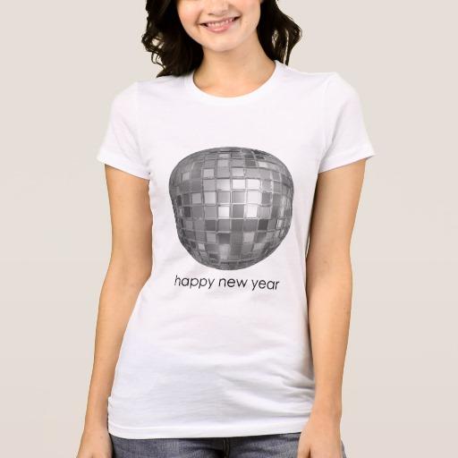 Happy New Year Disco Ball Women's Bella+Canvas Favorite Jersey T-Shirt