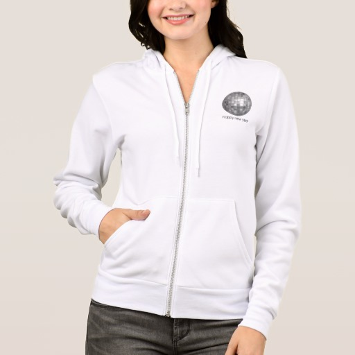 Happy New Year Disco Ball Women's Bella+Canvas Full-Zip Hoodie