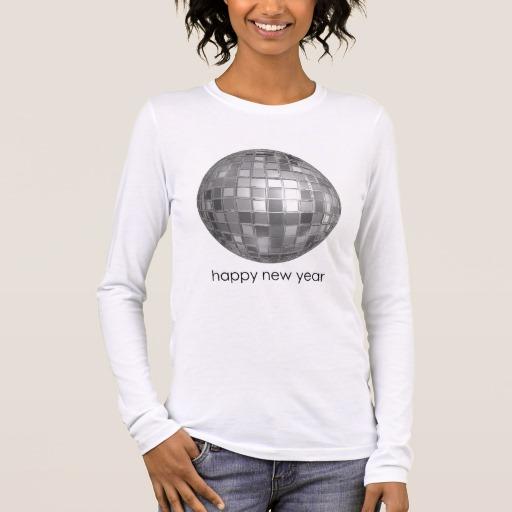 Happy New Year Disco Ball Women's Bella+Canvas Long Sleeve T-Shirt