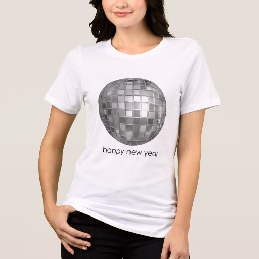 Happy New Year Disco Ball Women's Bella+Canvas Relaxed Fit Jersey T-Shirt