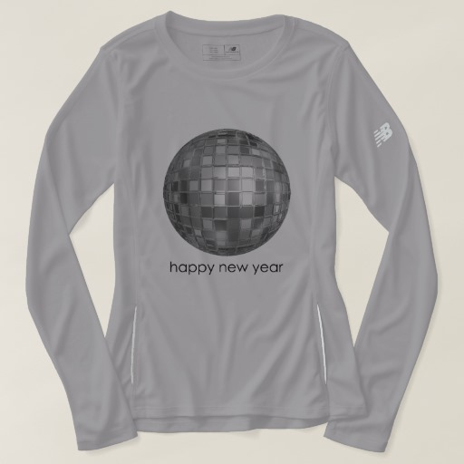 Happy New Year Disco Ball Women's New Balance Long Sleeve T-Shirt