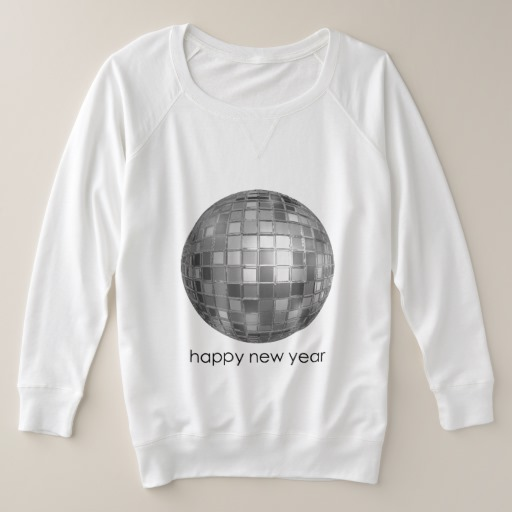 Happy New Year Disco Ball Women's Plus-Size French Terry Sweatshirt