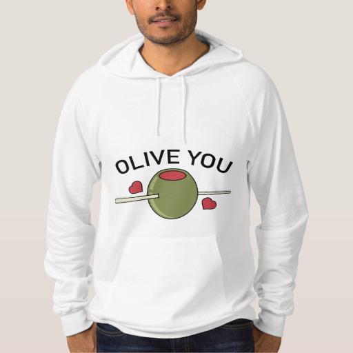 Olive You American Apparel California Fleece Pullover Hoodie