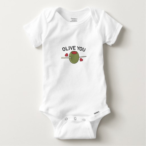 Olive You Baby Gerber Cotton Onesie