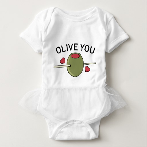 Olive You Baby Tutu Bodysuit