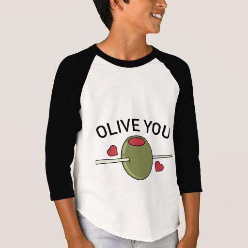 Olive You Boys' American Apparel 3/4 Sleeve Raglan T-Shirt