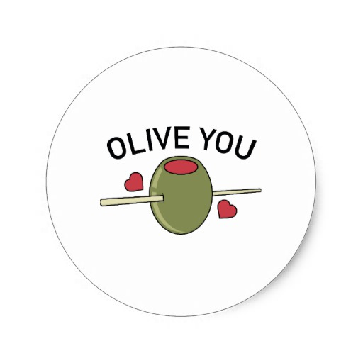 Olive You Classic Round Sticker