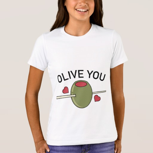Olive You Girls' Bella+Canvas Crew T-Shirt