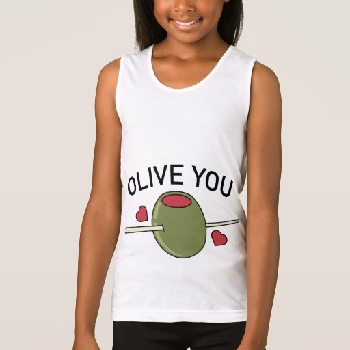 Olive You Girls' Fine Jersey Tank Top