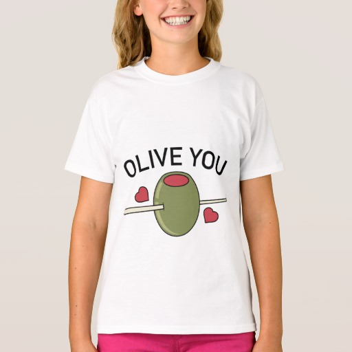 Olive You Girls' Hanes TAGLESS® T-Shirt