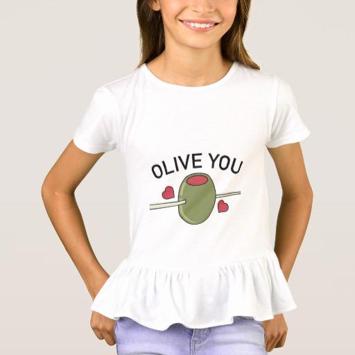 Olive You Girls' Ruffle T-Shirt