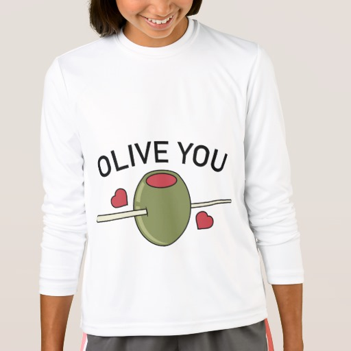 Olive You Girls' Sport-Tek Competitor Long Sleeve T-Shirt