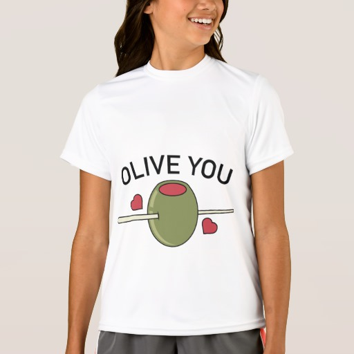 Olive You Girls' Sport-Tek Competitor T-Shirt