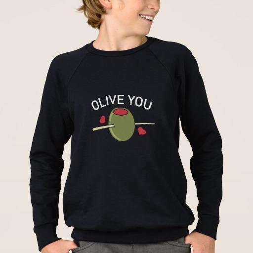 Olive You Kids' American Apparel Raglan Sweatshirt
