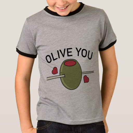 Olive You Kids' Basic Ringer T-Shirt