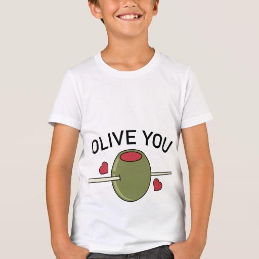 Olive You Kids' Bella+Canvas Crew T-Shirt