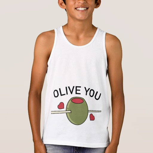 Olive You Kids' Bella+Canvas Jersey Tank Top