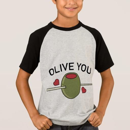 Olive You Kids' Short Sleeve Raglan T-Shirt