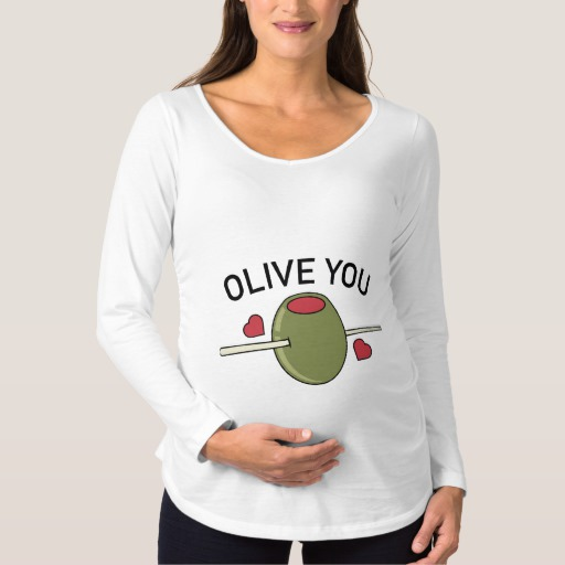 Olive You Maternity Long Sleeve T-Shirt