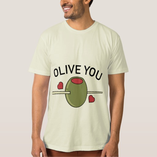 Olive You Men's American Apparel Organic T-Shirt