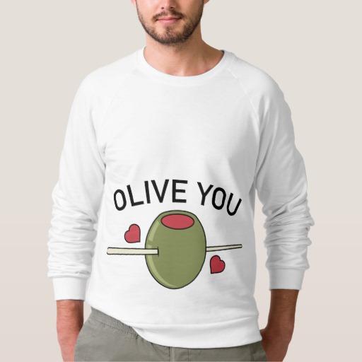 Olive You Men's American Apparel Raglan Sweatshirt